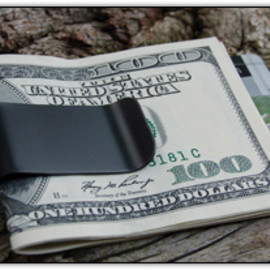 Superior Titanium - Black Diamond Titanium Money Clip