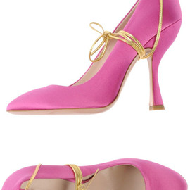 miu miu - Satin Pink Closed Toe Pumps