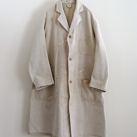 LILY1ST VINTAGE - 1940'S BRITISH FADED COLOR PAINTED WORK COAT