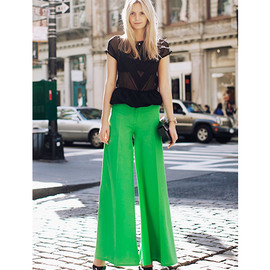 green wide pants