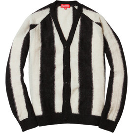 Supreme - Striped Mohair Cardigan - Black/White