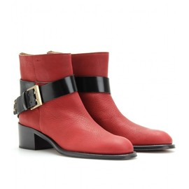 Chloé - BELTED LEATHER ANKLE BOOTS