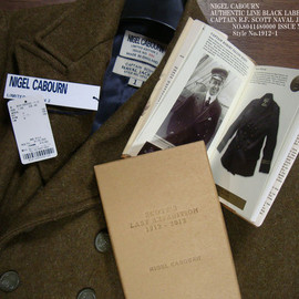 NIGEL CABOURN - AUTHENTIC LINE BLACK LABEL UK collection CAPTAIN R.F SCOTT NAVAL JACKET