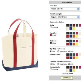 L.L.Bean - Custom Boat and Tote® Bag