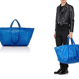 Balenciaga - blue tote bag