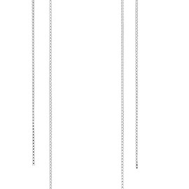 Saskia Diez - Fringe Open silver earrings