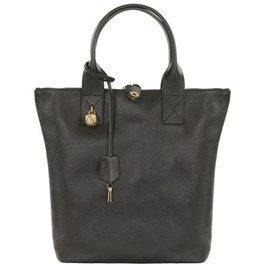 Alexander McQueen - BLACK NORTH SOUTH PADLOCK TOTE