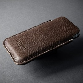 KILLSPENCER - POUCH for iPhone 5 CHOCOLATE PEBBLED LEATHER