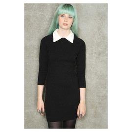 urban outfitters - Pins Needles White Collar Sweater Dress - Urban Outfitters