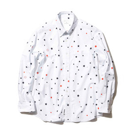 uniform experiment - Cotton Oxford LS Star Pattern B.D Shirt