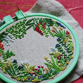 fuck yeah embroidery - a tiny garden filled with tiny flowers