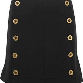 Chloé - Embellished wool-piqué mini skirt