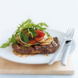 Donna Hay - char-grilled beef with marinated capsicum salad
