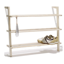 side by side - shoe rack