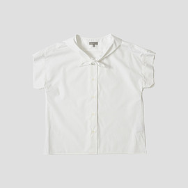 MARGARET HOWELL - COMPACT COTTON SHIRTING WHITE