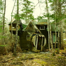 A whimsical and abandoned shack in Nova Scotia built by a Vietnam war dodger. Submitted by Josh Words.