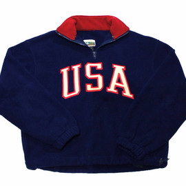 VINTAGE - Vintage 90s USA Fleece Jacket Made in USA Mens Size Small