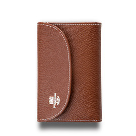 Whitehouse Cox - ホワイトハウスコックス | S7660 3FOLD WALLET / LONDONCALF × BRIDLE(BROWN/NAVY)