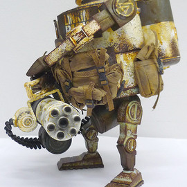 Ashley Wood, Linkin Park, threeA - WWRp BRAMBLE MK2 GATLING Linkin Park EXCLUSIVE