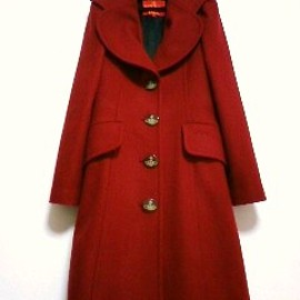 Vivienne Westwood red lable - vivienne west wood ハート Aライン メルトンウールコート