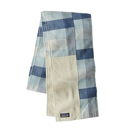 patagonia - Fjord Flannel Patchwork Scarf, Upriver: Woolly Blue (UPWB)