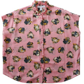 karen walker - Frill Collar Shirt (pink)