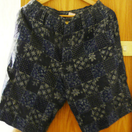 Indigo Patchwork Shorts