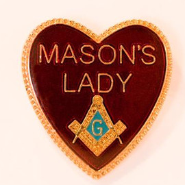 freemason - Mason's Lady pins