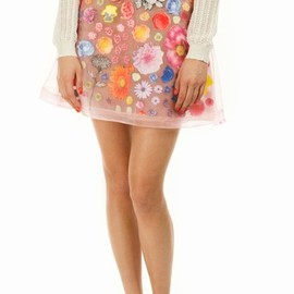 Christopher Kane - flower applique skirt