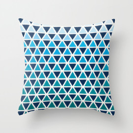 re:valiues - SANKAKU - sea- Throw Pillow