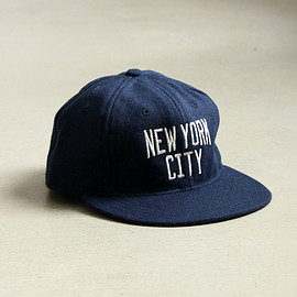 Ebbets Field Flannels - 6PANEL WOOL CAP [CUSTOM NY CITY EMB]