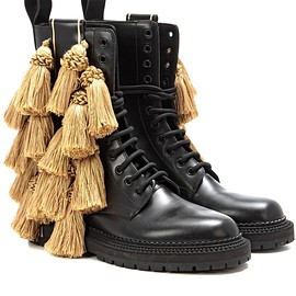 BURBERRY - SS2017 Aster Tassel embellished leather boots
