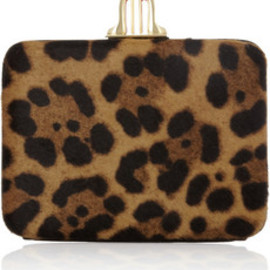 Christian Louboutin  - Dancing Queen calf hair box clutch