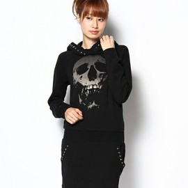 HYSTERIC GLAMOUR - SKULL BERRY pt スタッズ付きOP