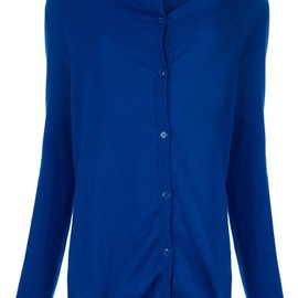 Maison Martin Margiela - electric blue cotton cardigan