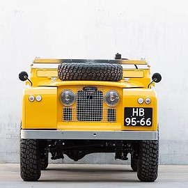 land rover - coolnvintage and deus ex-machina present a restored, motorcycle-hauling land rover