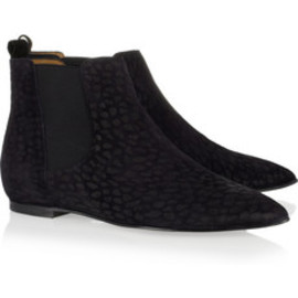 isabel marant - leopard leather ankle boots