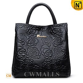 cwmalls - CWMALLS Embossed Leather Tote Handbag CW206307