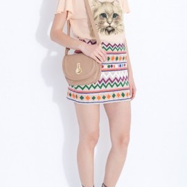 WILDFOX - Cat Face Tee by WILDFOX