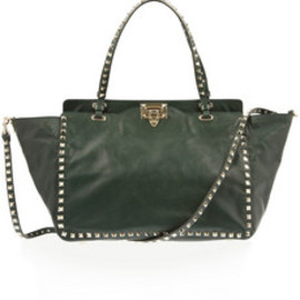 VALENTINO - Studded leather tote