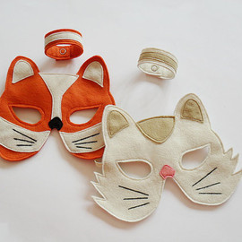 BHBKidstyle - Fox Mask and Bracelet Set Eco Friendly Toy, Birthday Gift for Children, Kids Boys Accessory, Kids Dress up Toy