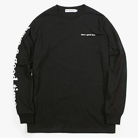 have a good time - haveagoodtime arm side logo L/S tee BLACK