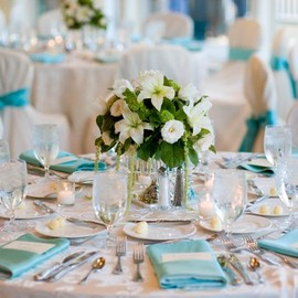 Tiffany blue wedding table
