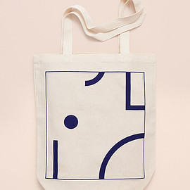 depeapa - BLUE SHAPES - Screen printed canvas fair trade eco-tote