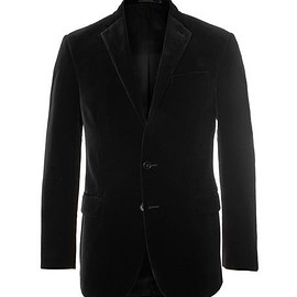Polo Ralph Lauren - Black Slim-Fit Cotton-Velvet Blazer