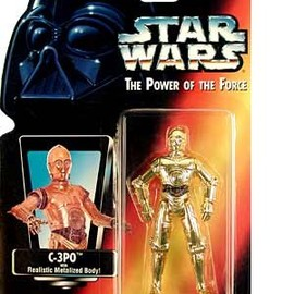 "kenner - STAR WARS Power of the Force Red Card 3 3/4"" C-3PO Action Figure."