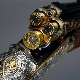 Beautiful antique German combination gun