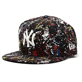NEWERA - ONSPOTZ ORIGINAL NEWERA 9FIFTY SNAPBACK CAP NEW YORK YANKEES PAINT BLACK