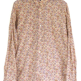 Engineered Garments - Tab Collar Shirt,Pink Floral Print