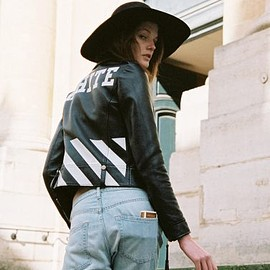 OFF-WHITE c/o VIRGIL ABLOH womens - OFF-WHITE c/o VIRGIL ABLOH biker jacket